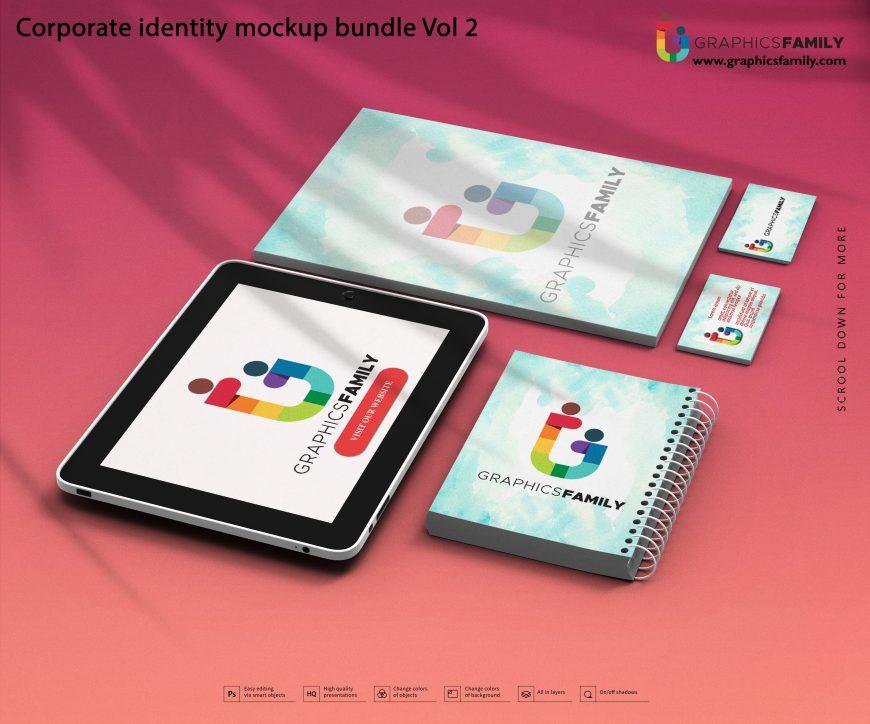 Free Premium Corporate Brand Identity Mockup PSD Bundle