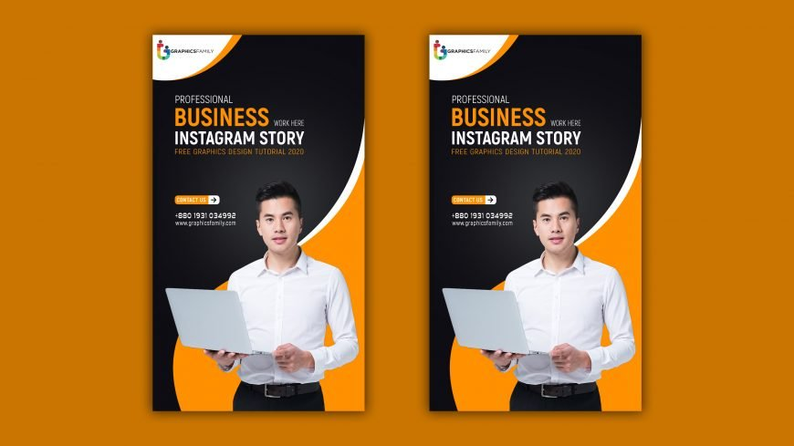 Free Professional Business Instagram Story Post PSD Template