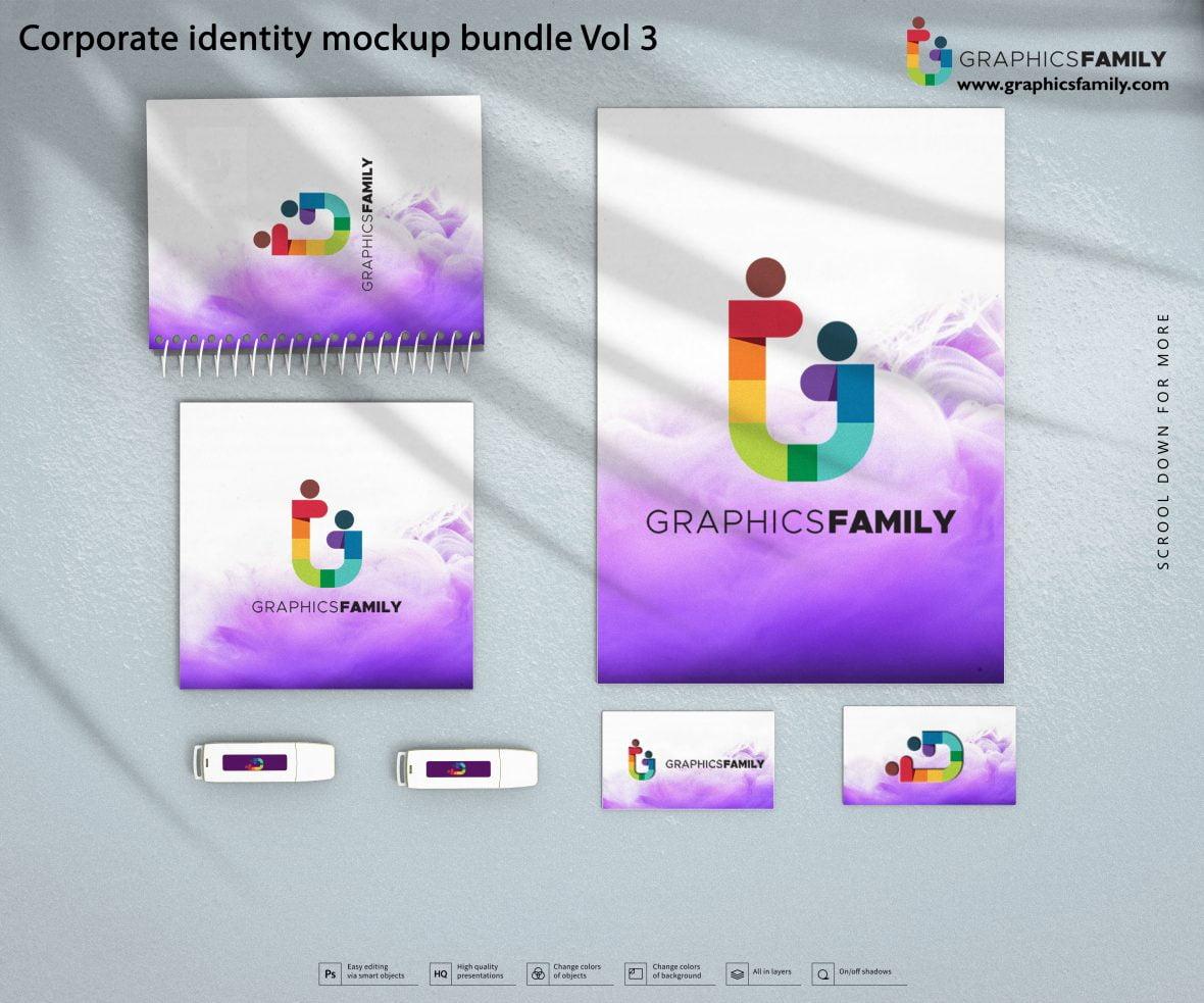 Free Professional Corporate Identity Mockup Bundle