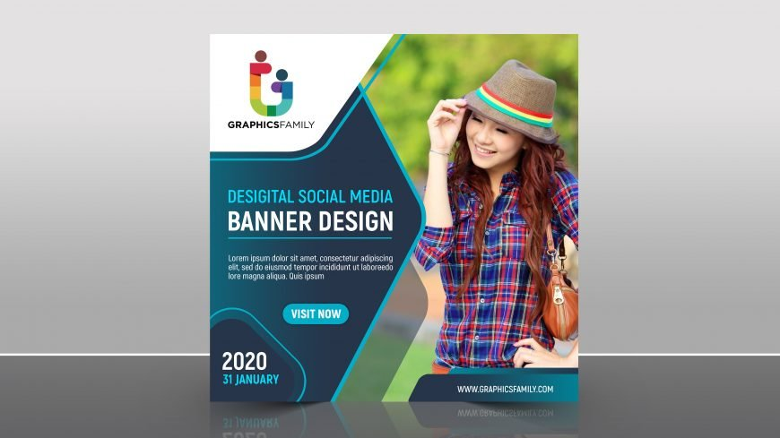 Free Social Media Promotional Banner PSD Template