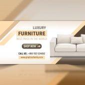 Furniture Web Banner Design PSD