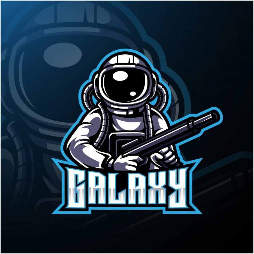 Galaxy Fighters Mascot Logo
