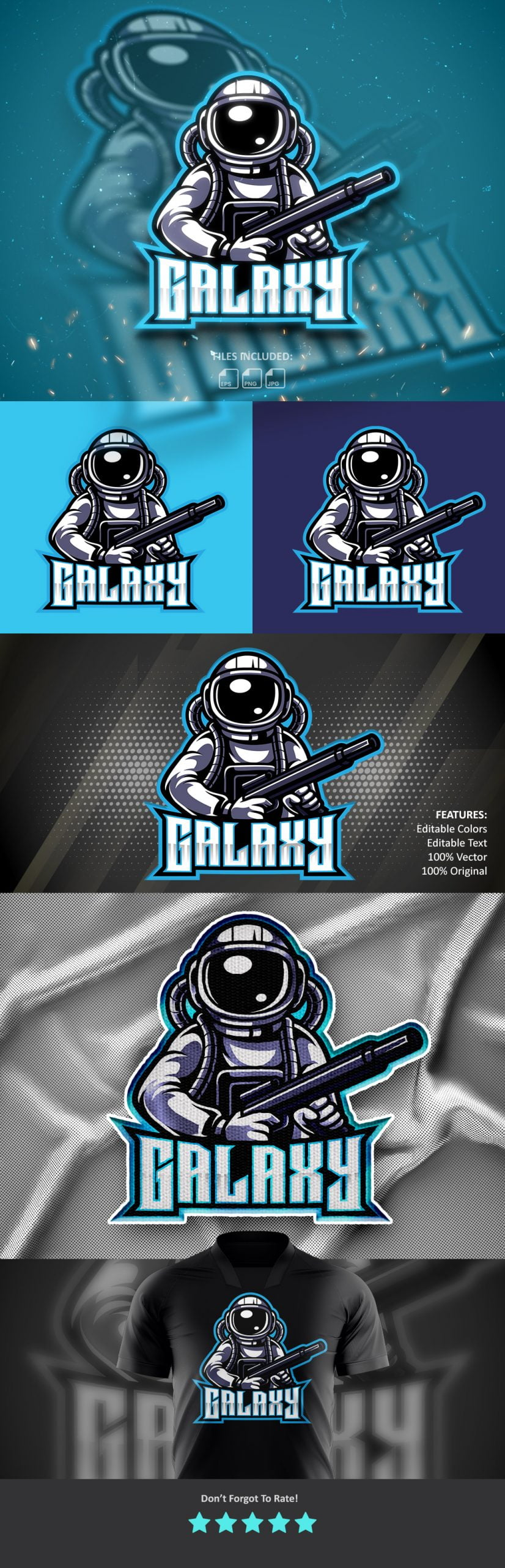 Galaxy-Fighters-Mascot-Logo-Free-Download