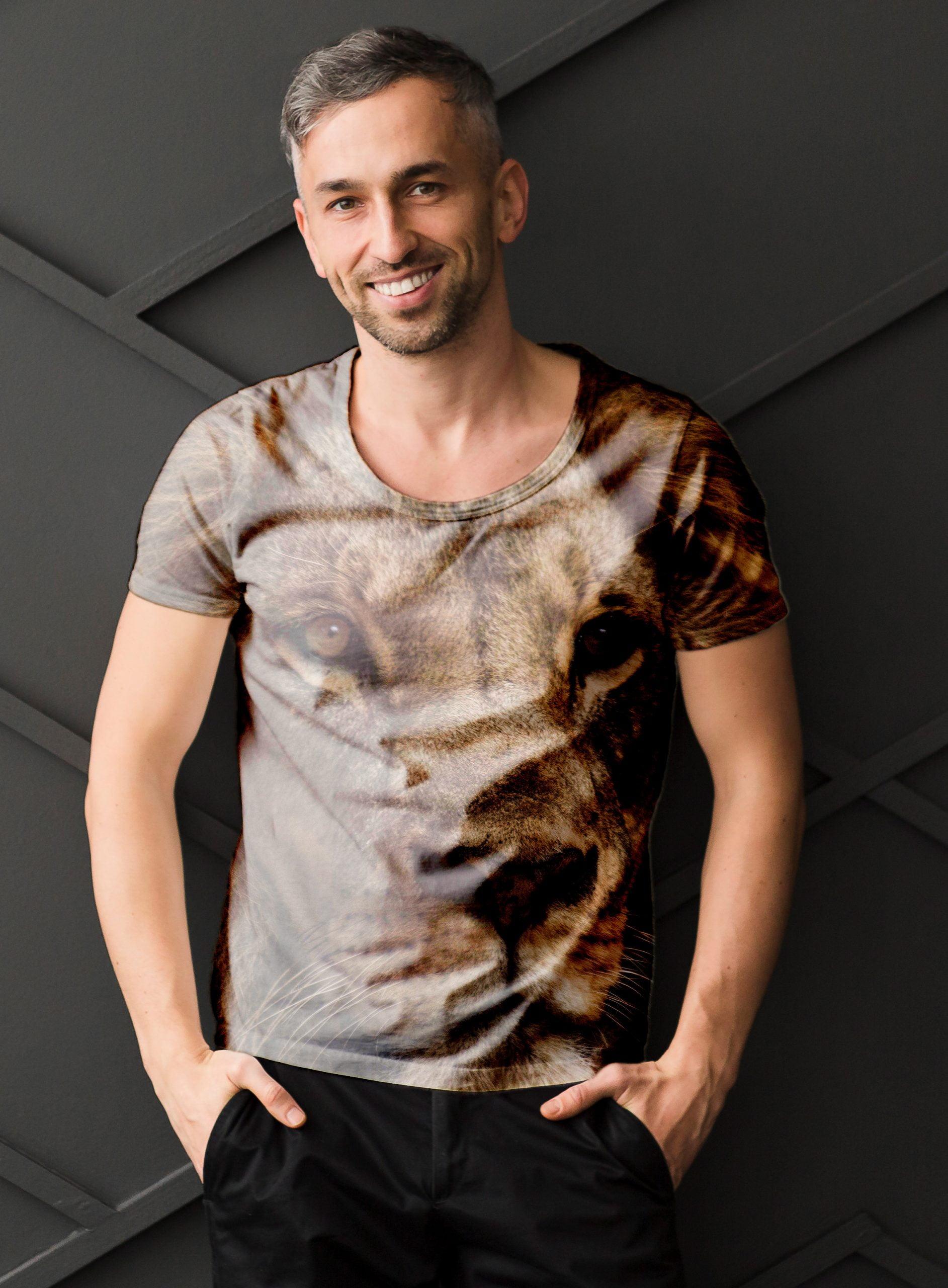Lion-Free-PSD-T-Shirt-Mock-up-for-Men