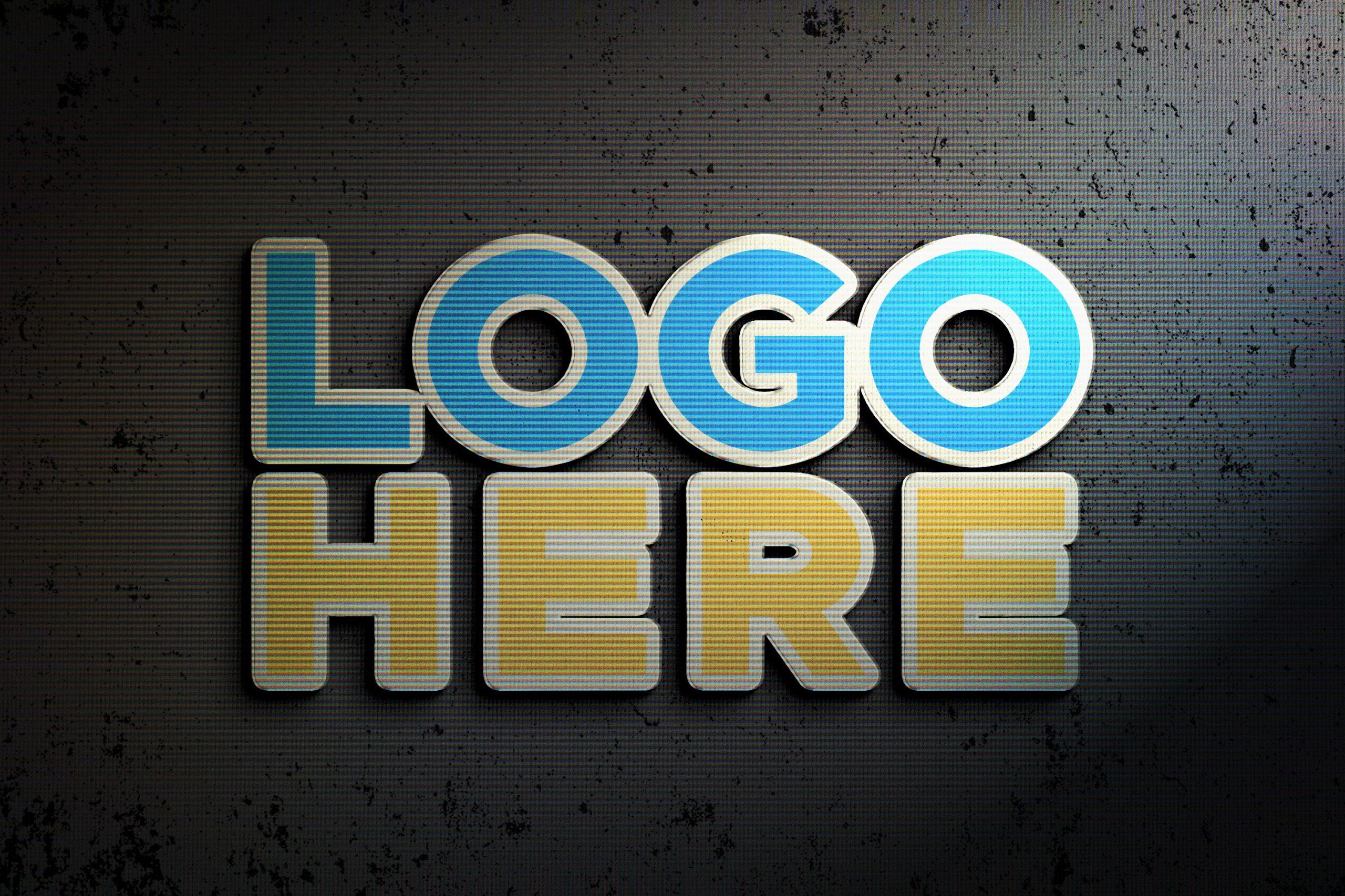 Logo-Here-Photoshop-Logo-Mock-up-with-Retro-Effects