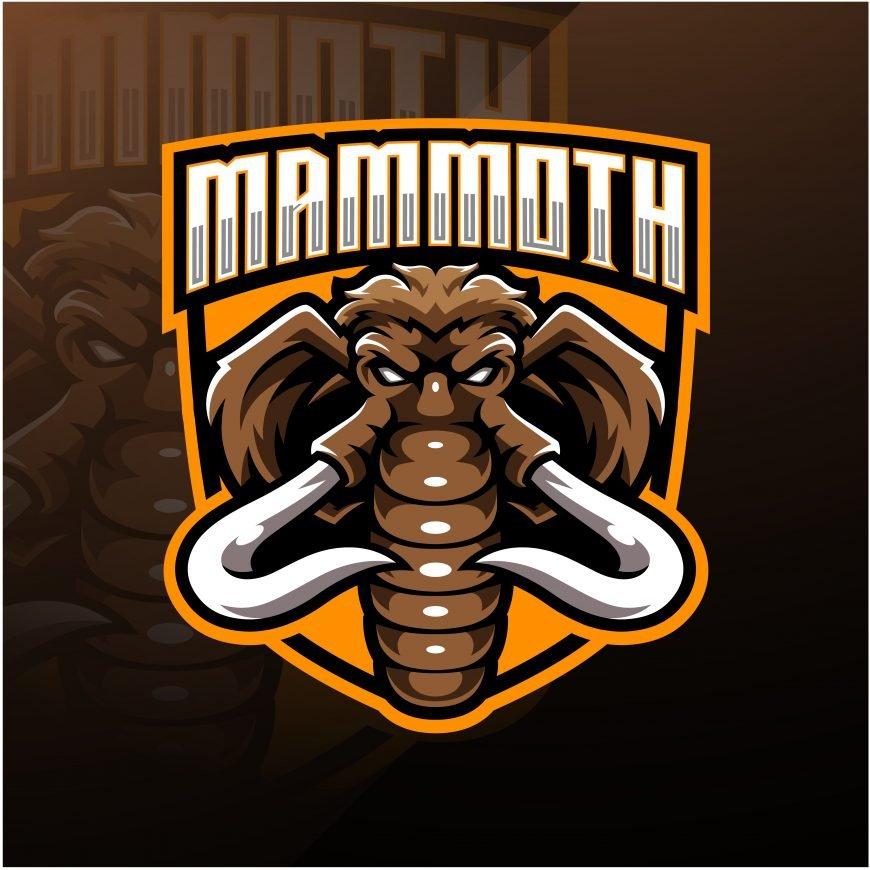 Mamoth Esports Gaming Clan Mascot Logo