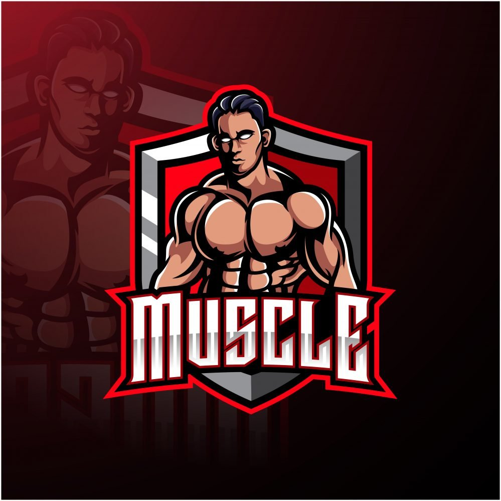 Muscle Fighter Esports Mascot Logo