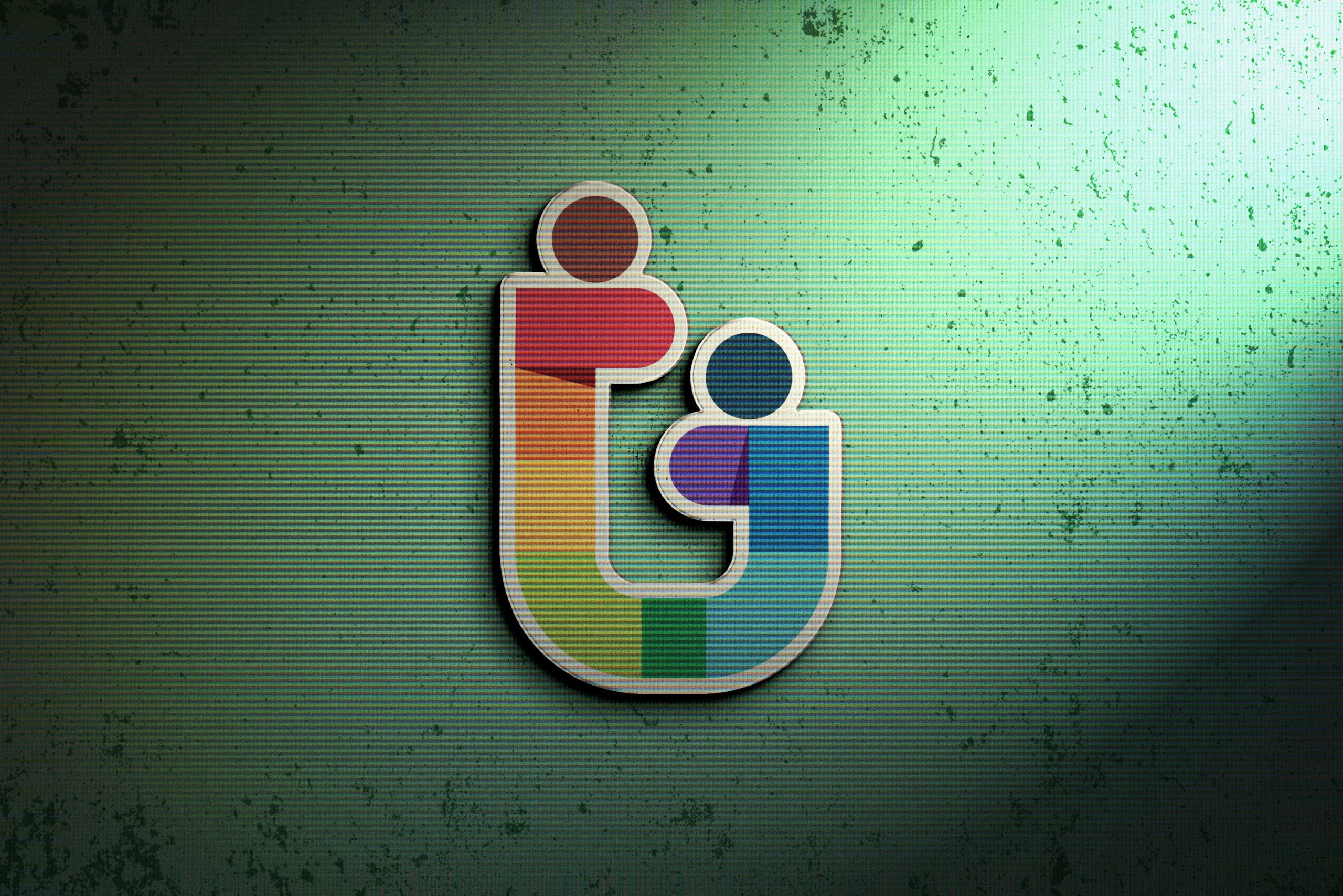 Photoshop Logo Mock-up with Retro Effects