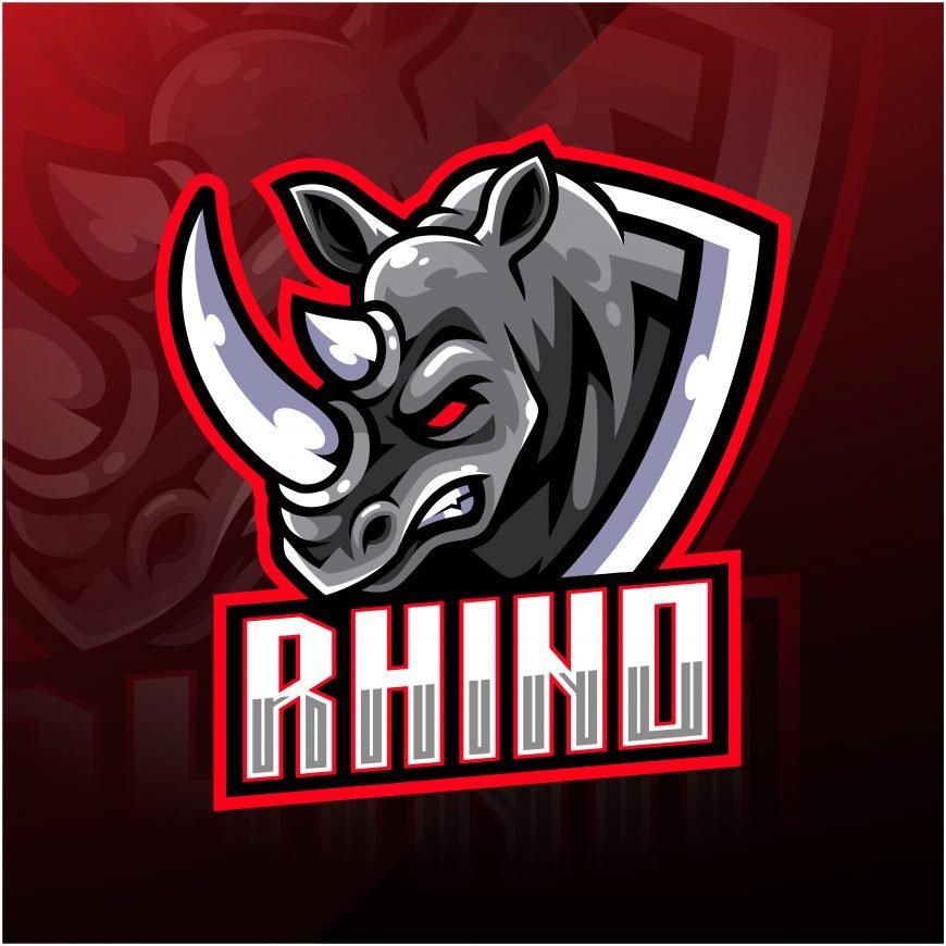 Rhino Esports Gaming Clan Mascot Logo