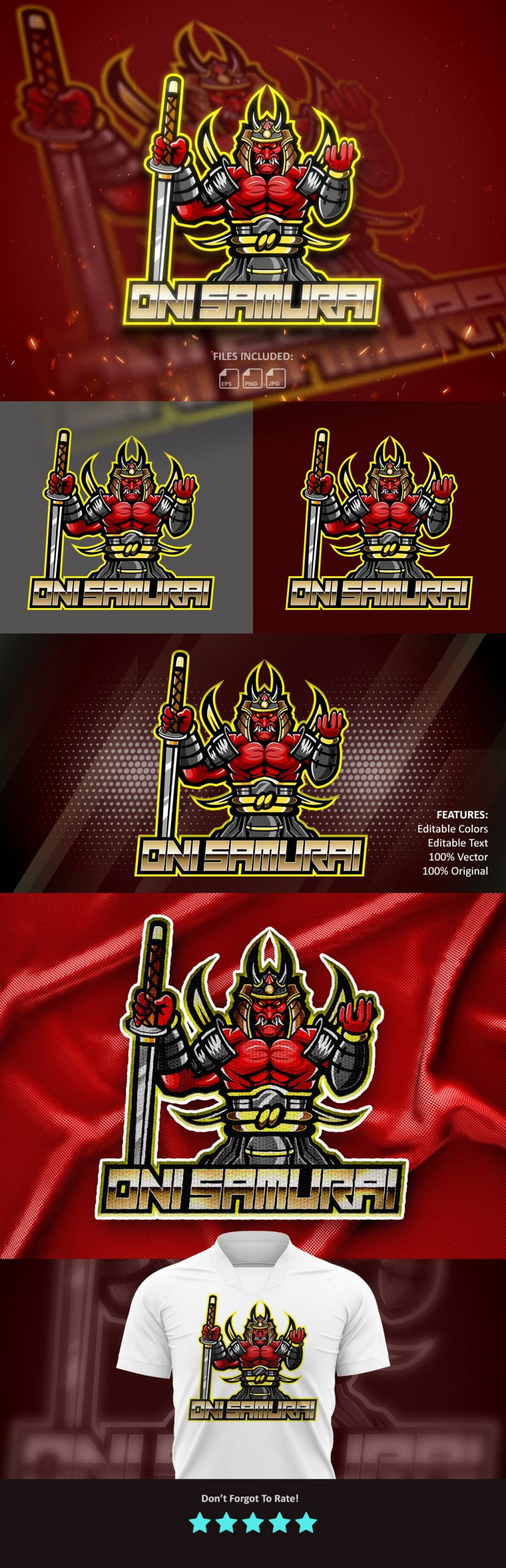 Samurai-Esports-Mascot-Logo-Free-Download