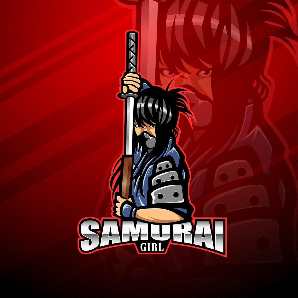 Samurai Girl Mascot Logo