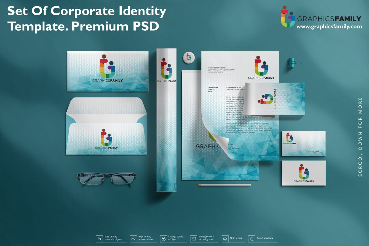 Set of Corporate Identity Template Premium Quality PSD
