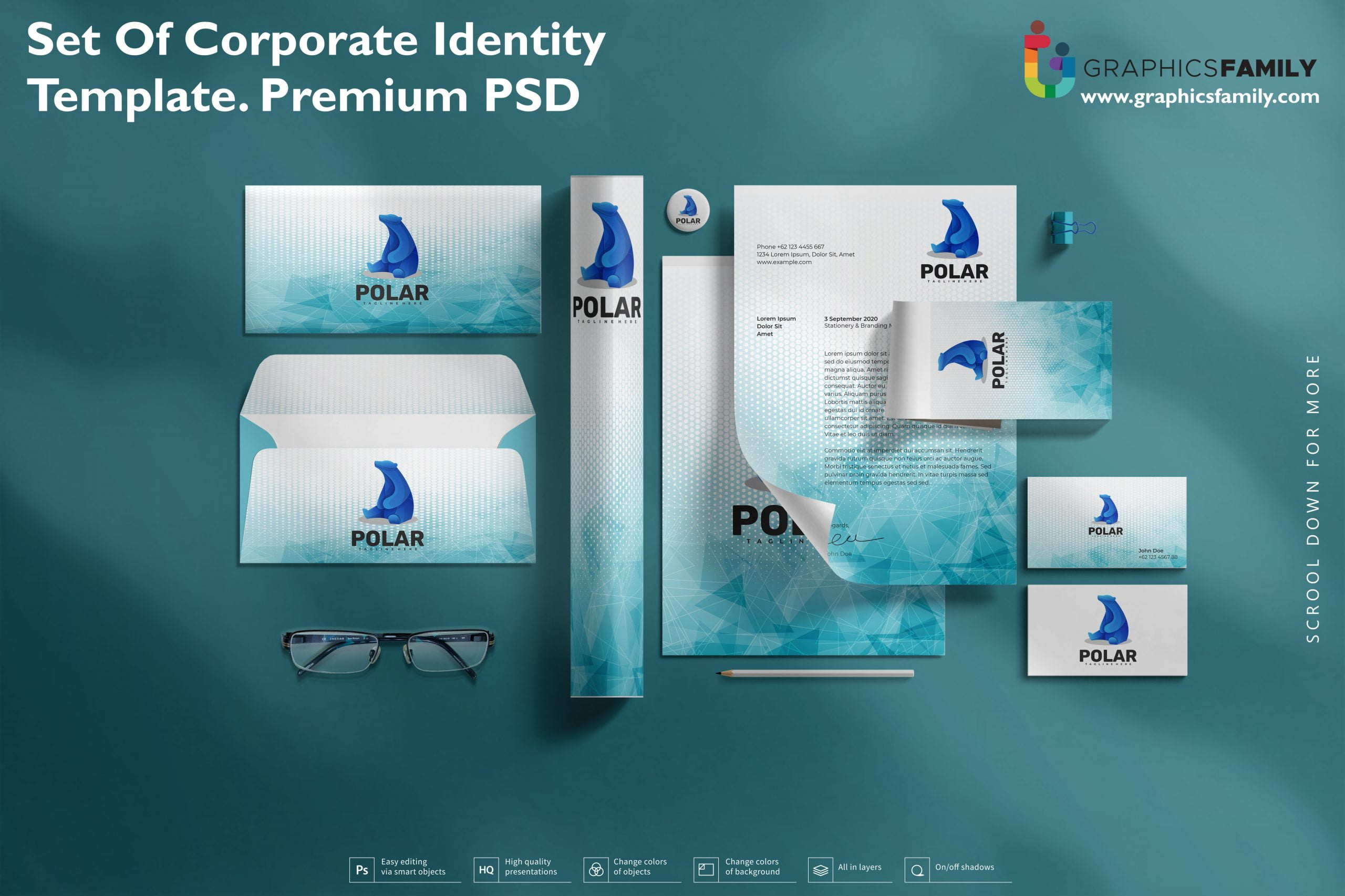 Set of Corporate Identity Template Premium Quality PSD Download