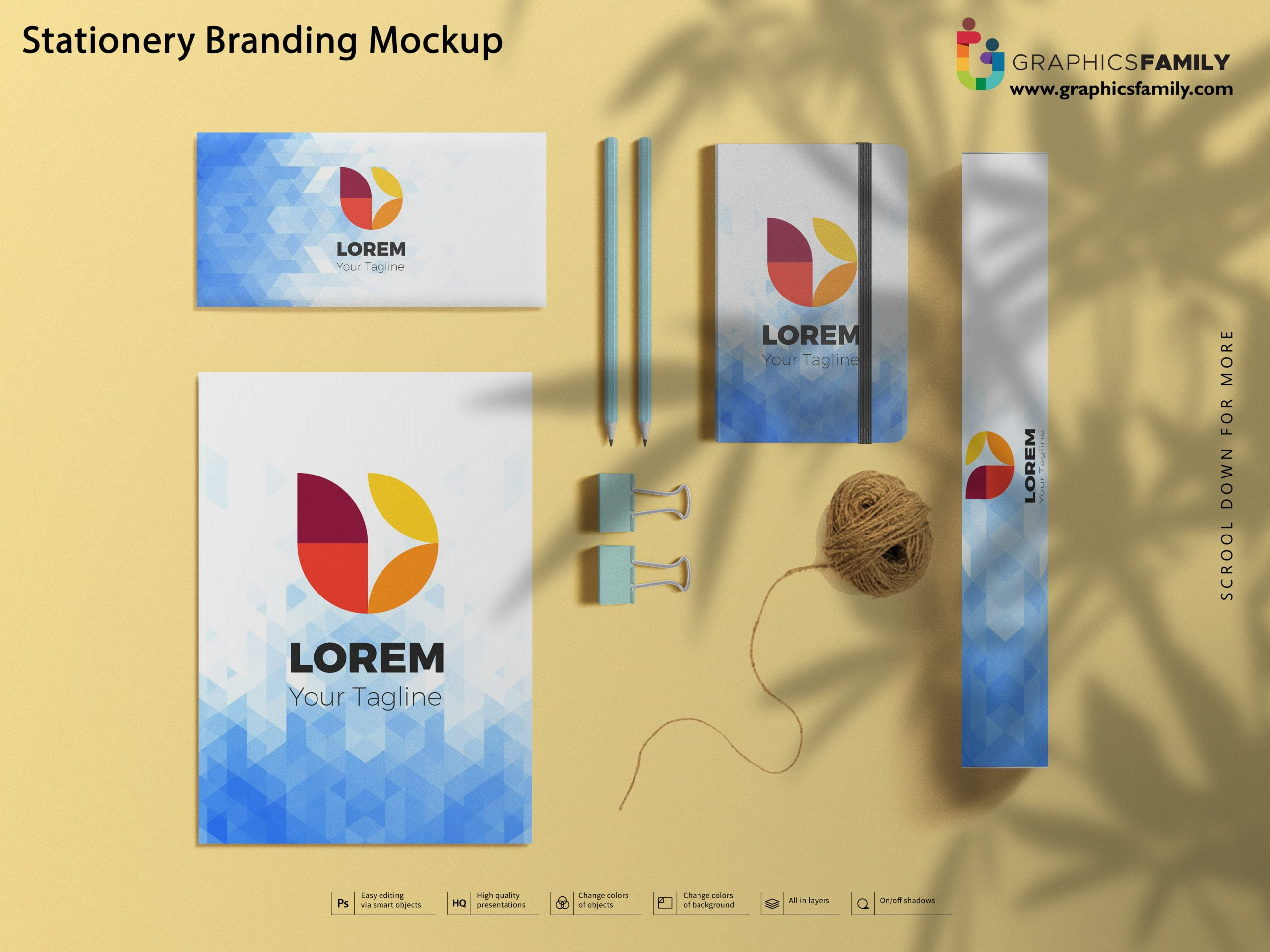 Stationery Mockup for Professional Branding Free PSD