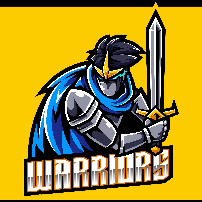 Warriors-Esports-Gaming-Clan-Mascot-Logo-PNG-Transparent