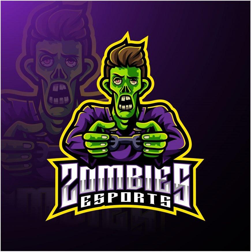 Zombies Clan Esports Mascot Logo