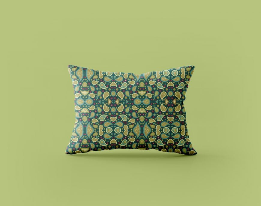 Free Pillow PSD Mock-up Design by GraphicsFamily