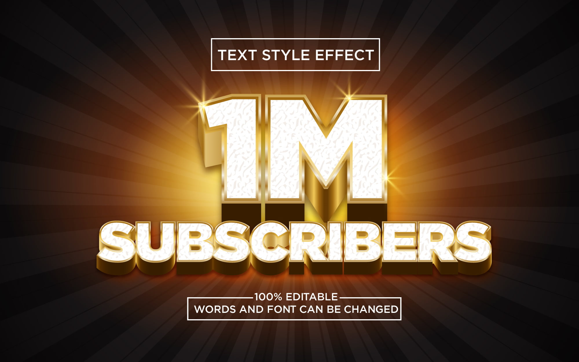 1M-Subscribers-Golden-3D-Text-Style-Effect