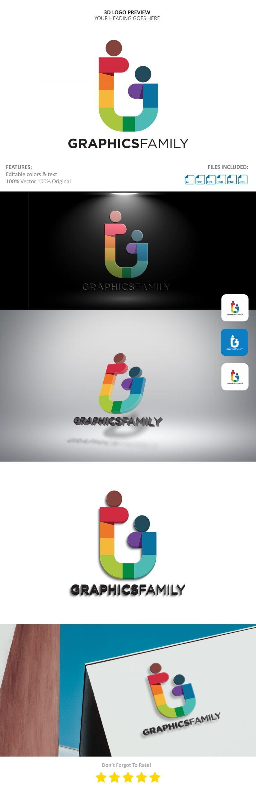 3D Logo Preview Mockup