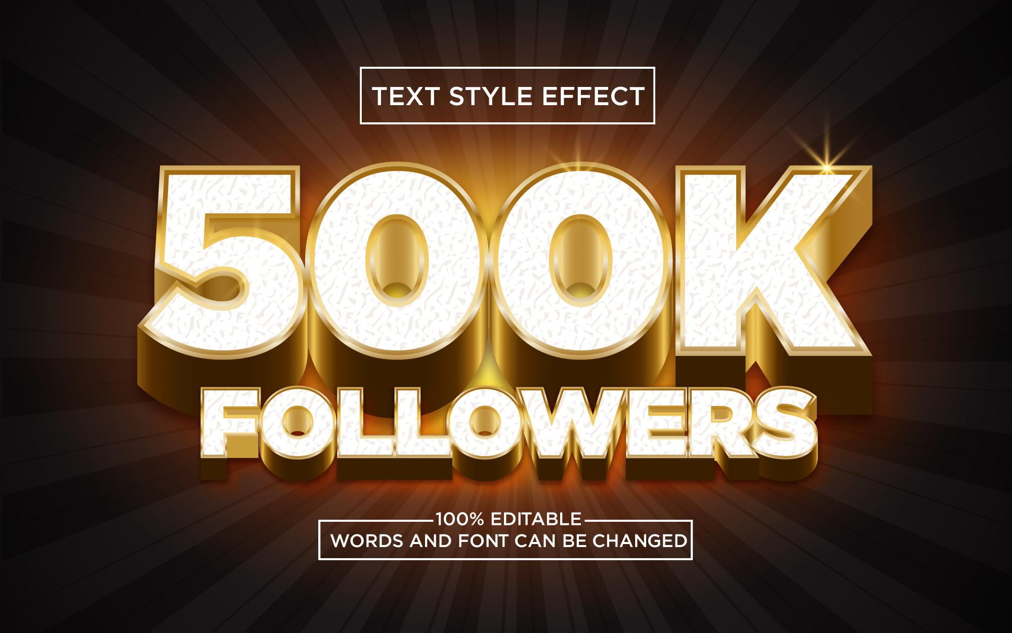 500K-Followers-Golden-3D-Text-Style-Effect