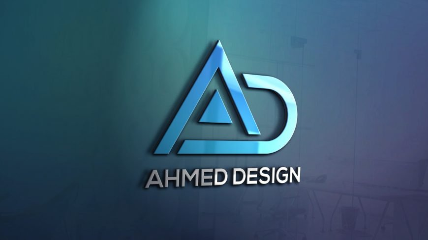 AD Letters Logo Template Design