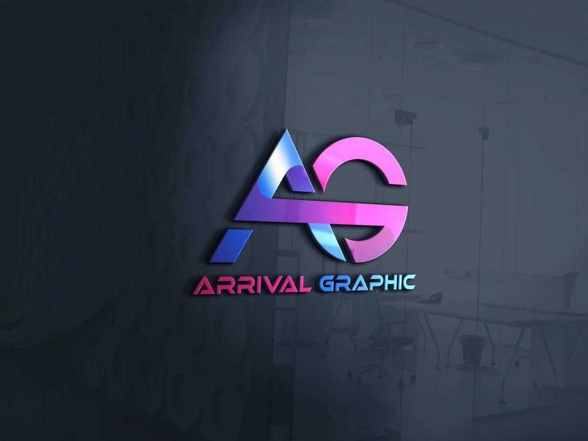 AG Letters Logo Design Download