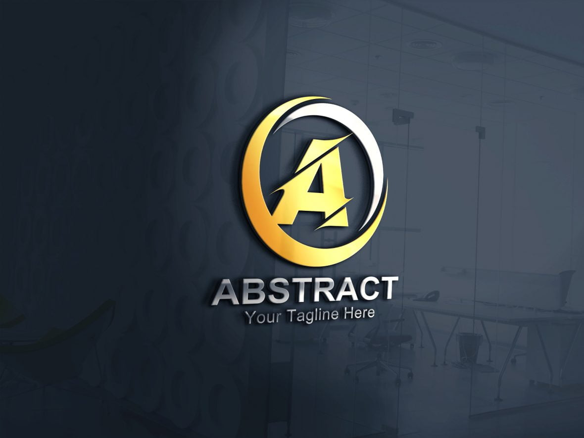 Abstract Letter A Logo Design