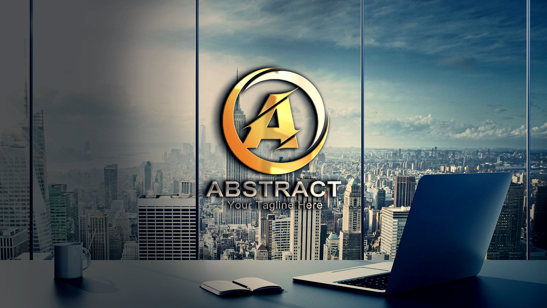 Abstract Letter A Logo Design Free PSD