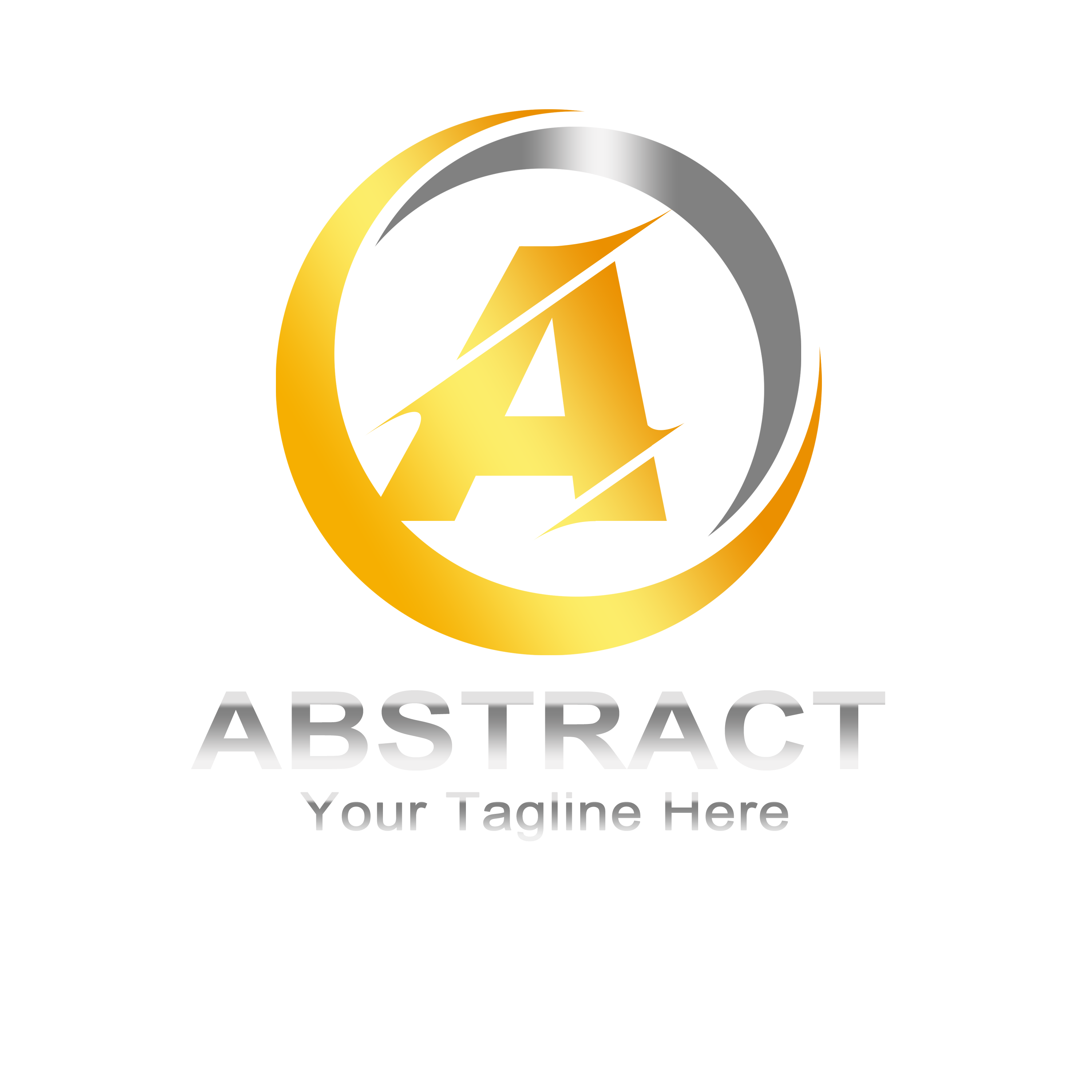Abstract Letter A Logo Design PNG Transparent