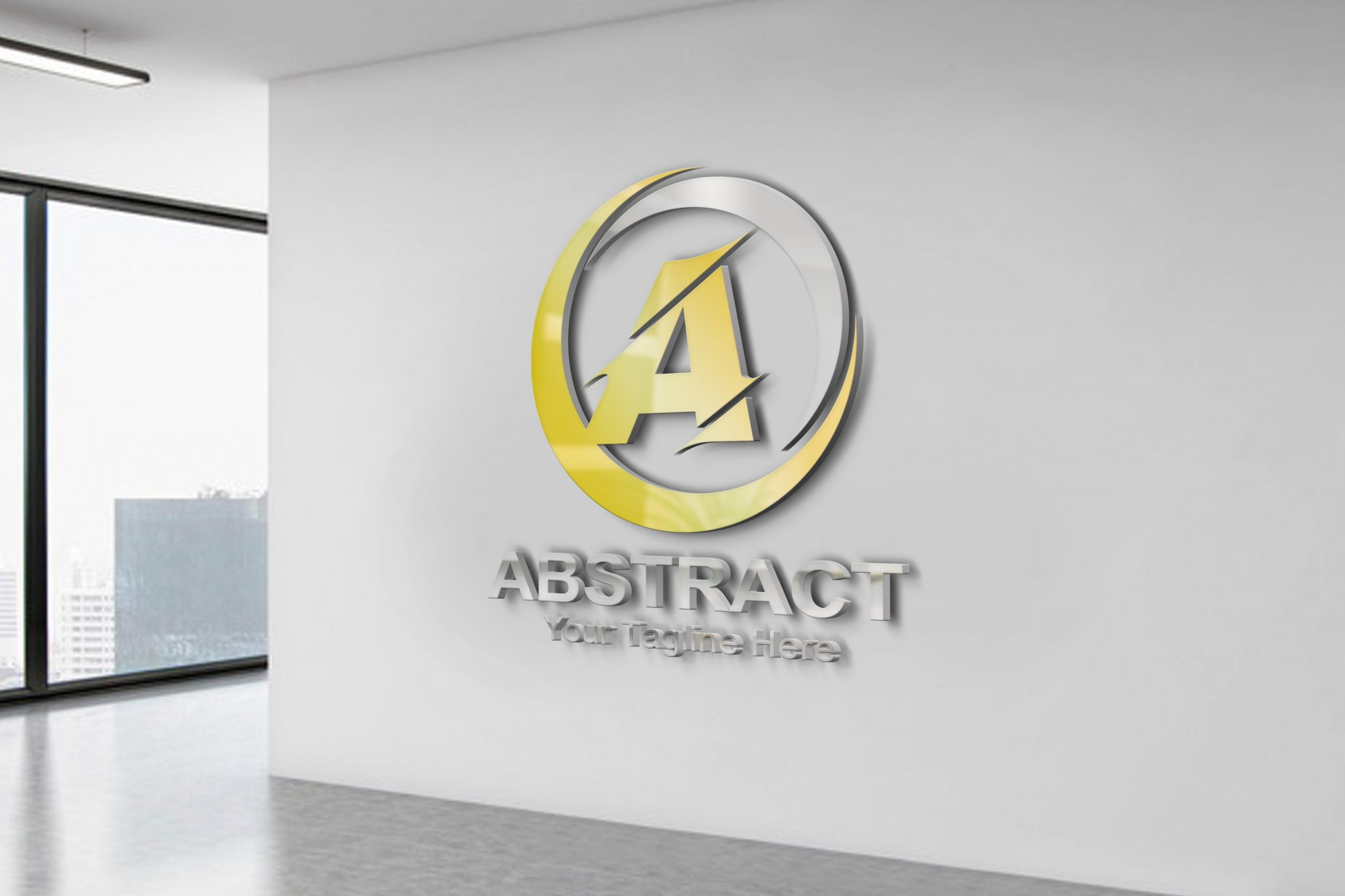 Abstract Letter A Logo Template