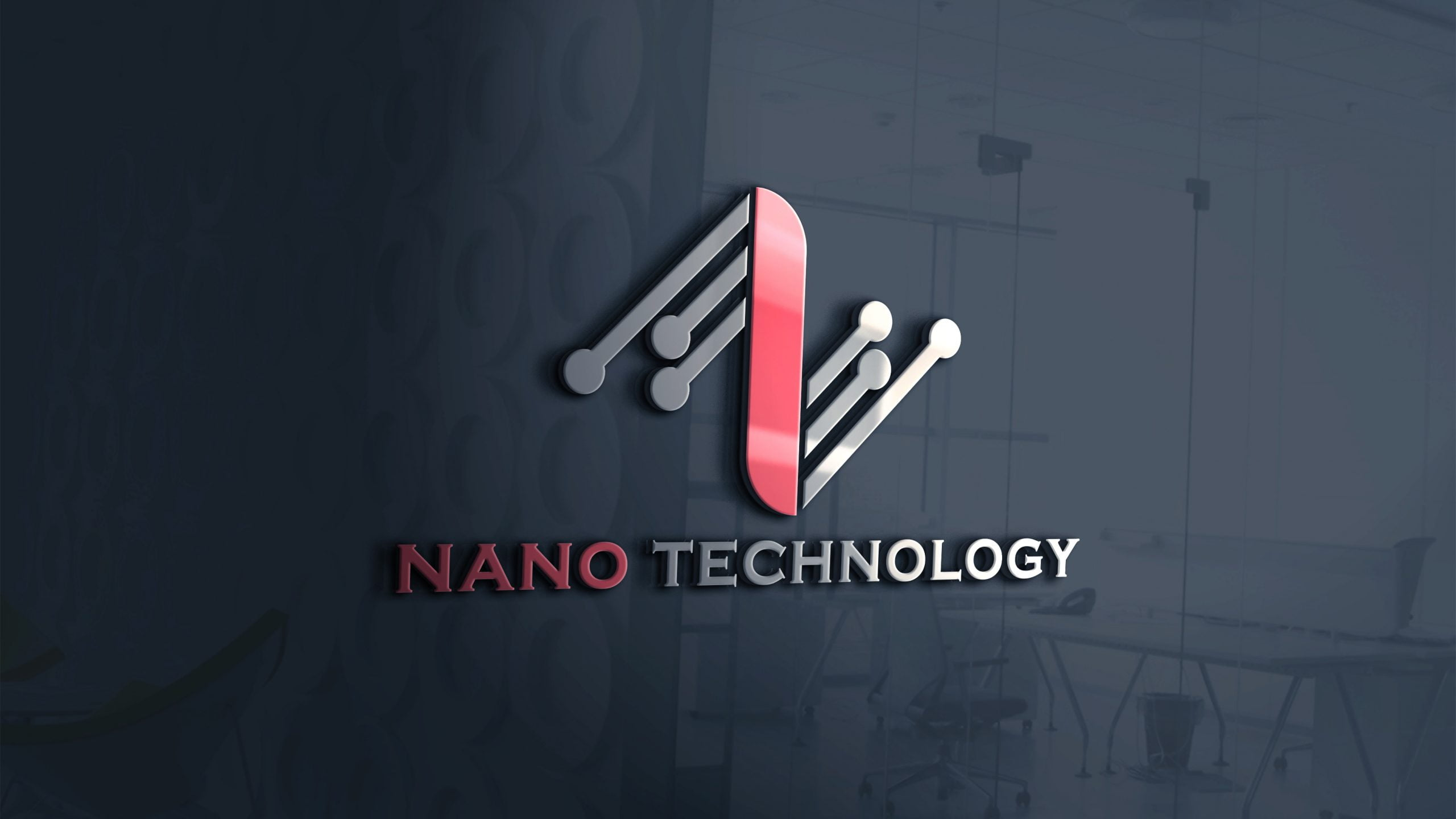 Abstract Technology Logo Design Free PSD Download