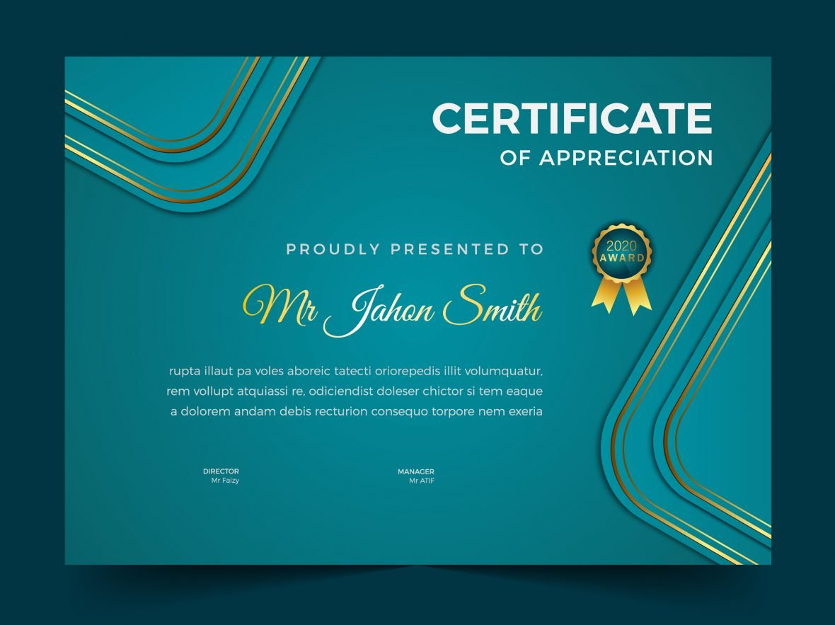 Achievement Certificate Cover Design Template