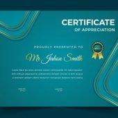Achievement Certificate Cover Design Template