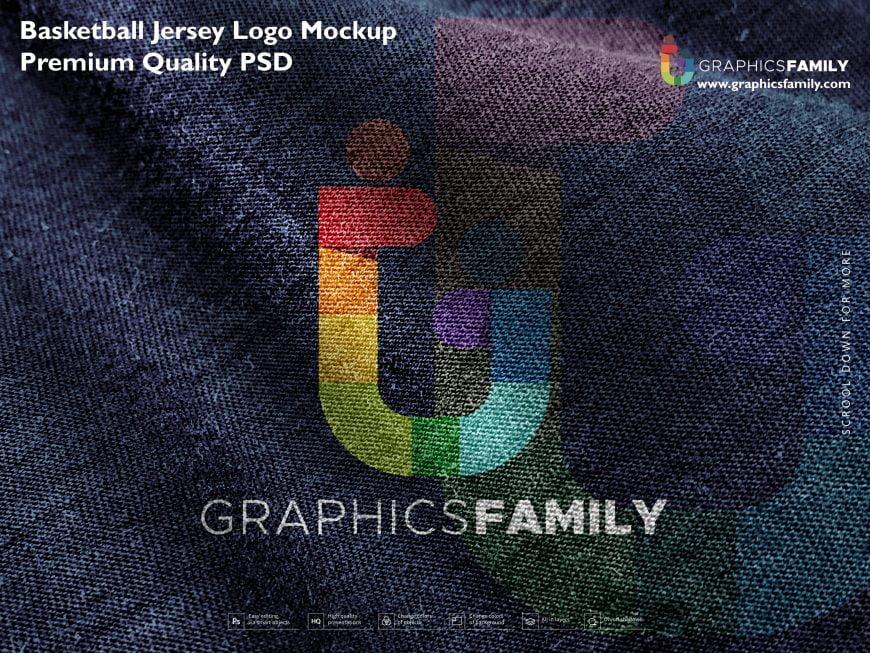 Basketball Jersey Logo Mockup Premium Quality PSD