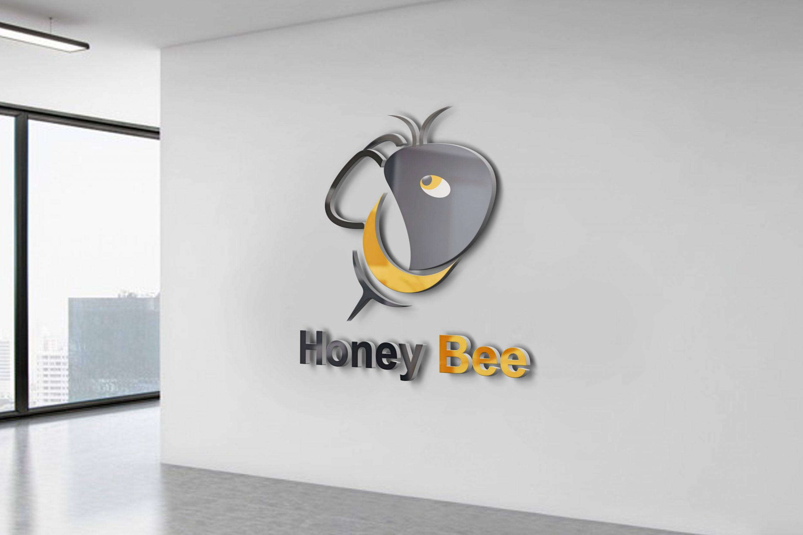 Bee Logo Template Design FREE