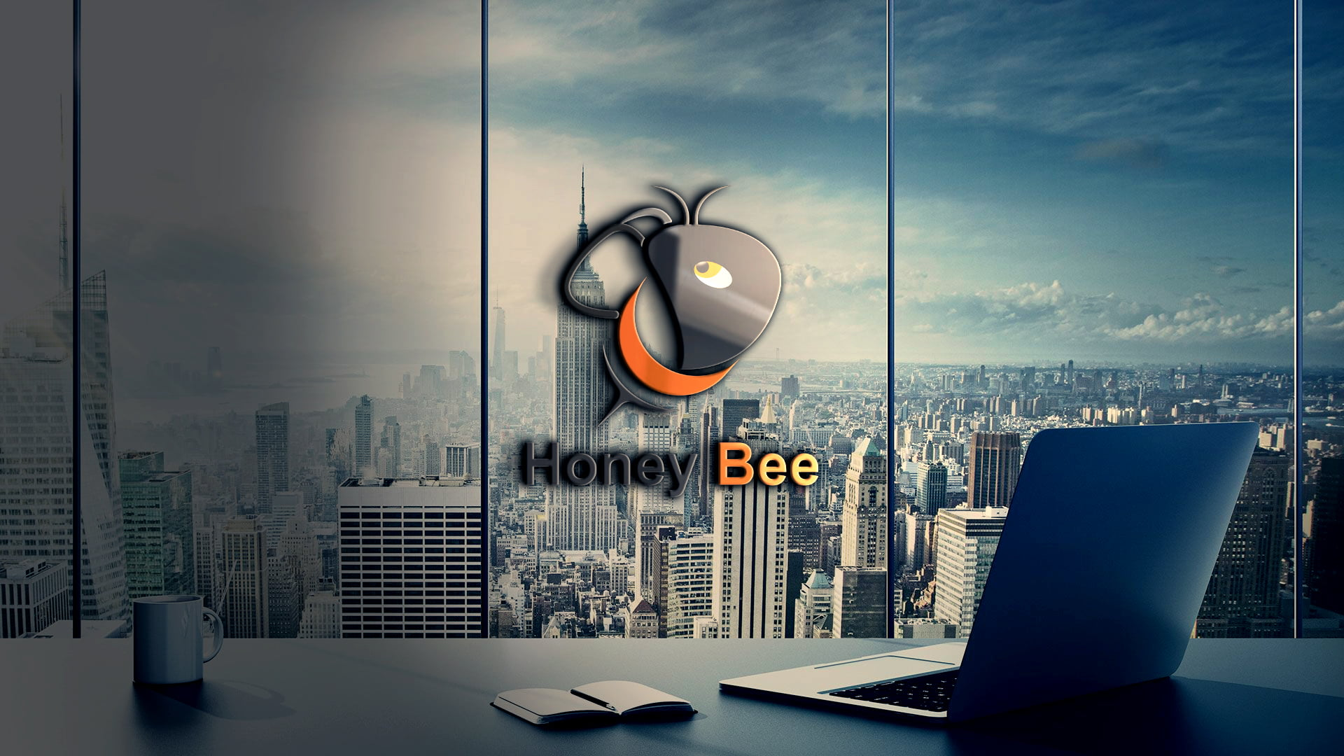 Bee Logo Template Design Free PSD Download