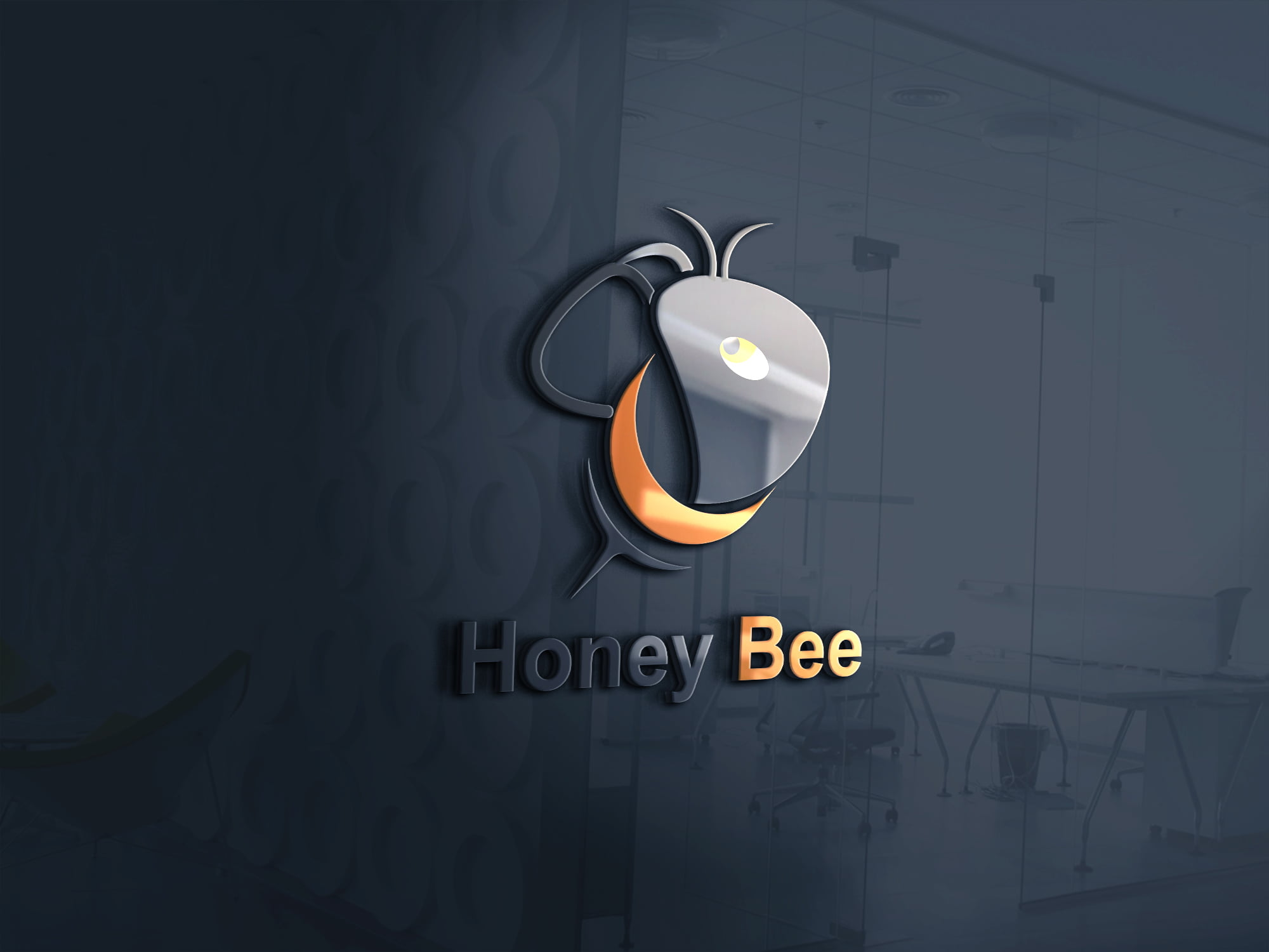 Bee Logo Template Design PSD Download