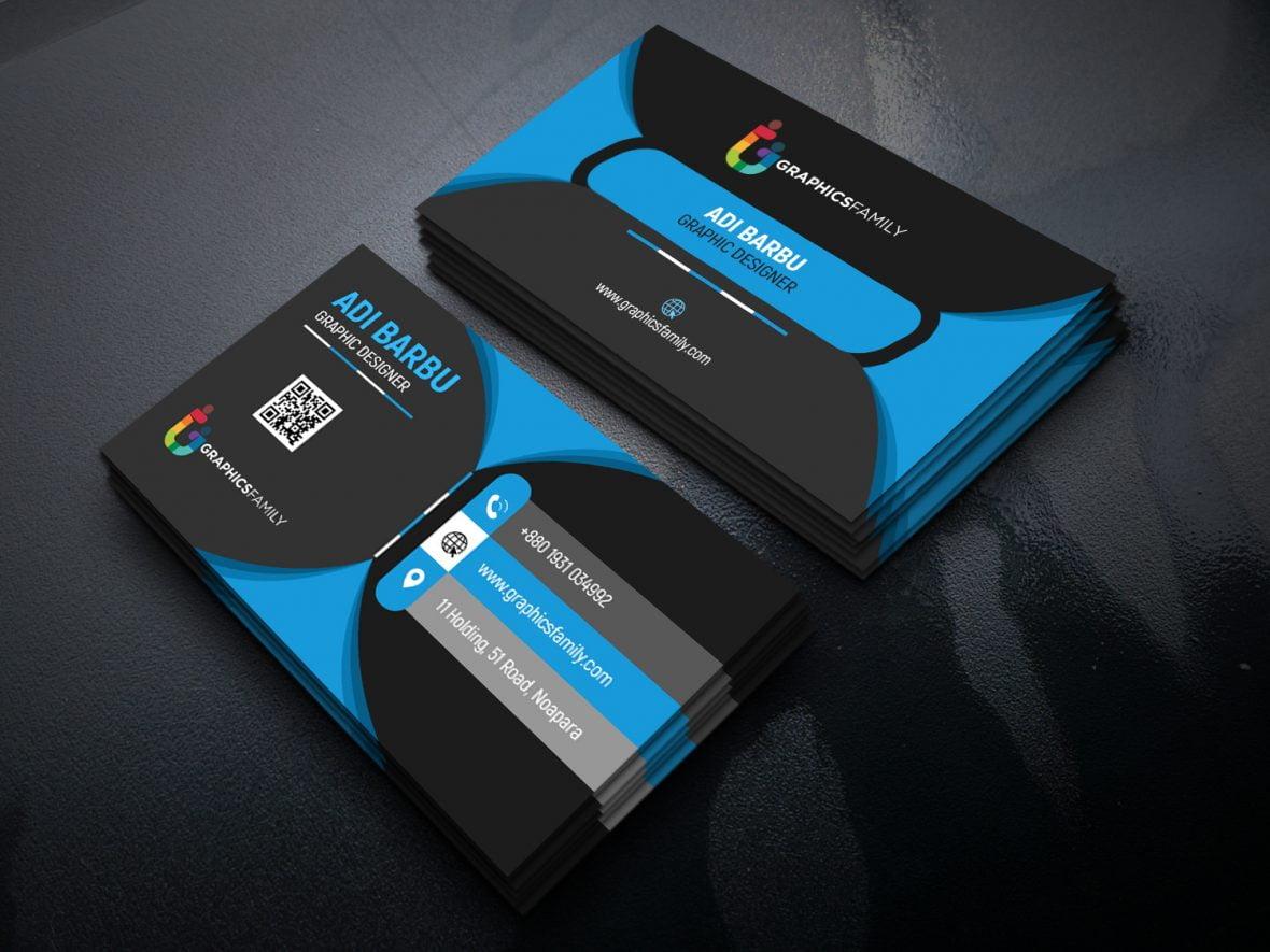 Black Elegant Corporate Card