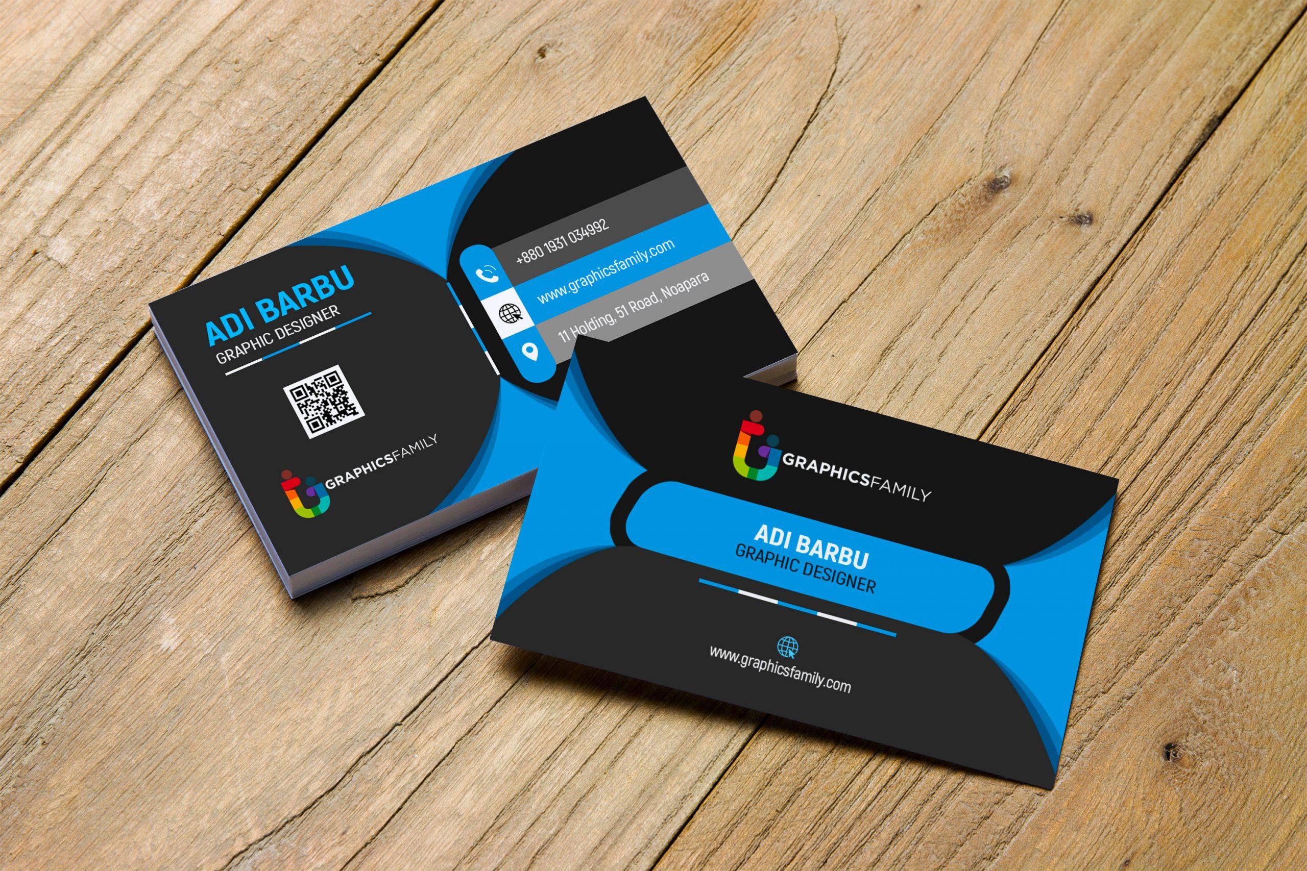 Black Elegant Corporate Card Download