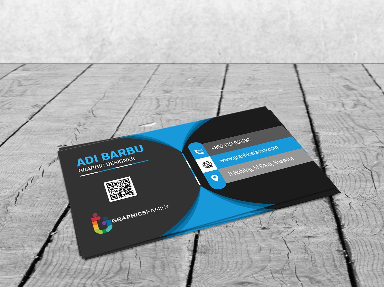 Black Elegant Corporate Card PSD