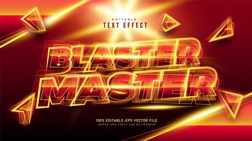 Blaster-Master-Text-Style-Effect