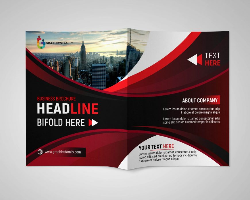 Business Brochure PSD Template with Space for Text Free Download