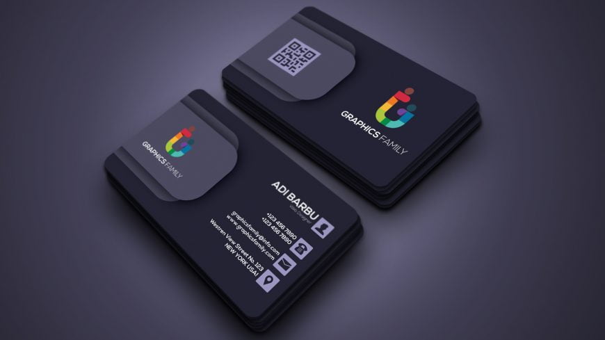 Business Card Layout PSD Template