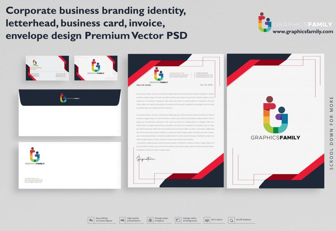 Corporate business branding identity, letterhead,