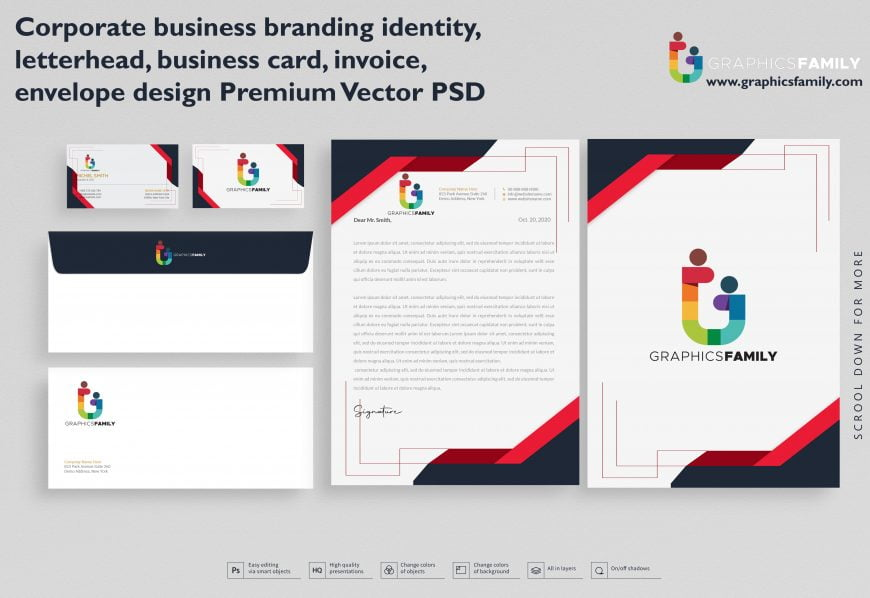 Corporate business branding identity, letterhead,