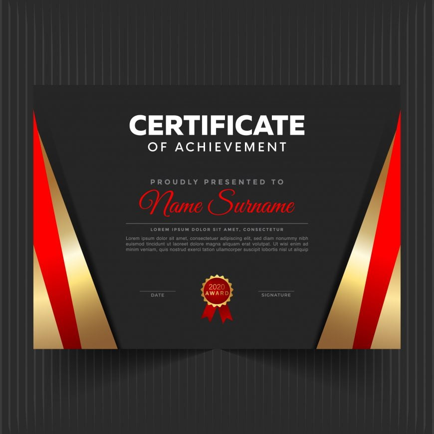� Certificate Template With Luxury And Modern Pattern
