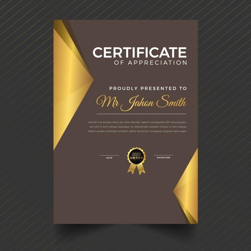 Certificate Template With Luxury And Modern Pattern Diploma Vector Illustration
