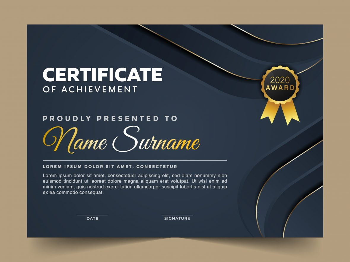 Certificate template with Luxury and modern pattern