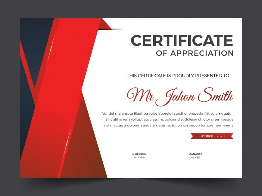 Certificate template with clean and modern pattern