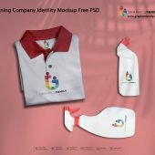 Cleaning Company Identity Mockup Free PSD